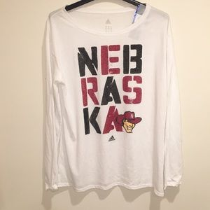 Nebraska Cornhuskers Stacked Long Sleeve NWT XL
